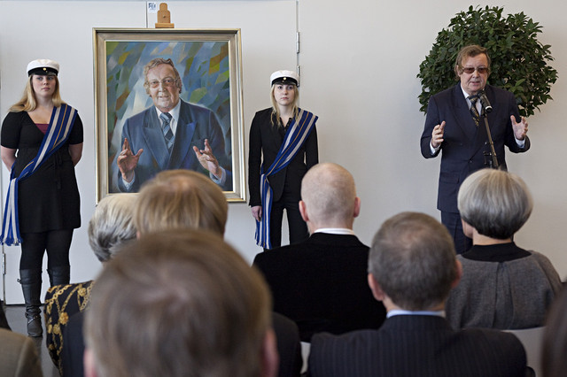 Professori Uolevi Lehtisen muotokuvan paljastus