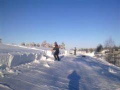 Talvella lumienpudotuksessa