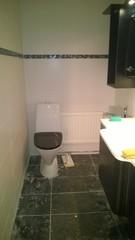 Uusi wc tila ennen rakennussiivousta