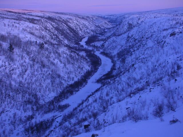Kevon kanjoni talvella