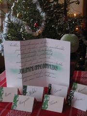 Joulumenu & pöytäkortit