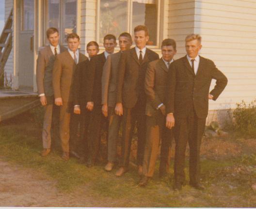 Veljekset ikäjärjestyksessä vuonna 1969