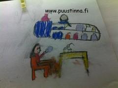 Lastenoikeuksien päivä. Taidelipas järjesti piirustusta ja puustinnakin pääsi kuviin!