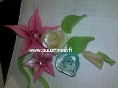 sokerimassa kukkia