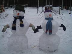 Nastat lumiukot talvella 2006