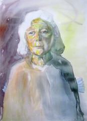 muotokuva-eeva-1-akvarelli 36 x 55 cm