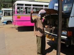 Bussiasema.  Bus station.    Panjim, Goa 17.1.