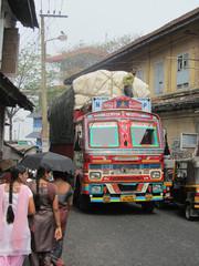 Täältä tullaan!  A  colourful lorry. Mattancherry 10.2.