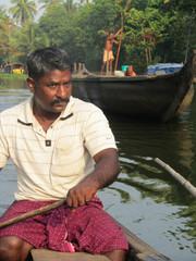 Vesillä.  The paddler.   Kumarakom 21.2.