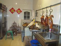 Ravintolan ruokavarastoa.  Storehouse of the restaurant.   Peking 12.3.