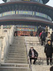 Taivaan Temppelin puistossa.  Temple of Heaven park.   Peking 16.3.