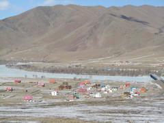Mongolialainen kylä.  Mongolian village.  Terelj  23.3.