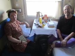 Junassa matkalla Pekingistä Ulaan Baatariin (Mongolia) . In train on way from Beijing to Ulaan Baatar (Mongolia).  21.3.  Kuva :tuntematon