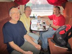 Ranskalainen matkaseuramme välillä Irkutsk - Pietari.    Our french company in train Irkutsk-St. Petersburg.  1.3.