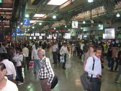 Victoria rautatieasema,.  Victoria station.  Mumbai  13.1.  Kuva S.P.
