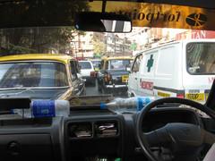 Liikenne. Traffic. Mumbai 13.1.  Kuva S.P.