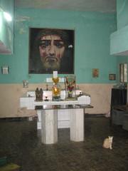 Katolinen kappeli kauppahallissa.  Catholic chapell in market place.  Panjim, Goa 18.1.  Kuva S.P.