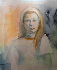 akvarelli_ronja 44 x 48 cm, yksityiskokoelmissa