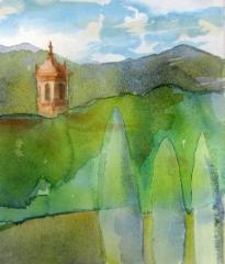 San Cassiano a Vicon kirkko, Lucca, 26 x 32 cm (lev x kork)