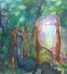 """Kiikku""; Bastholmen 2020, 24 x 18 cm"