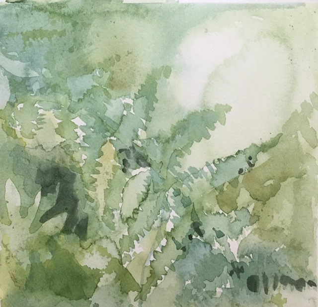 """Metsän henki 6""; Bastholmen 2020, 18 x 18 cm"