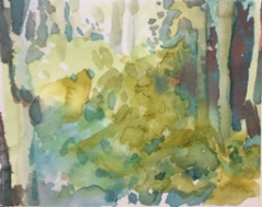 """ Metsän henki 7""; Bastholmen 2020, 16 x 18 cm"