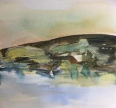 """ Notholmen""; Bastholmen 2020, 28 x 28 cm"