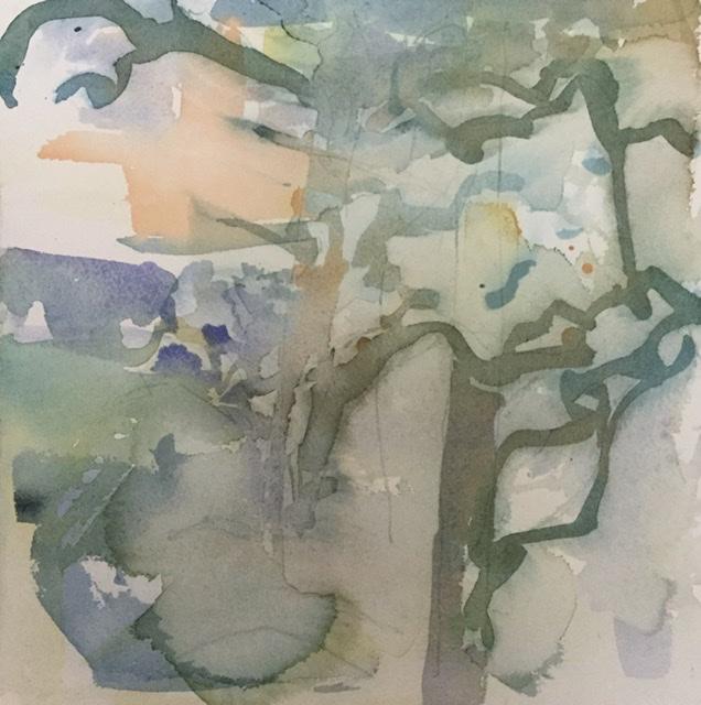 """""""Metsän henki 2""""; Orrörarna 2020, 28 x 28 cm"""