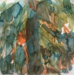 """Metsän henki 3""; Bastholmen 2020, 28 x 28 cm"