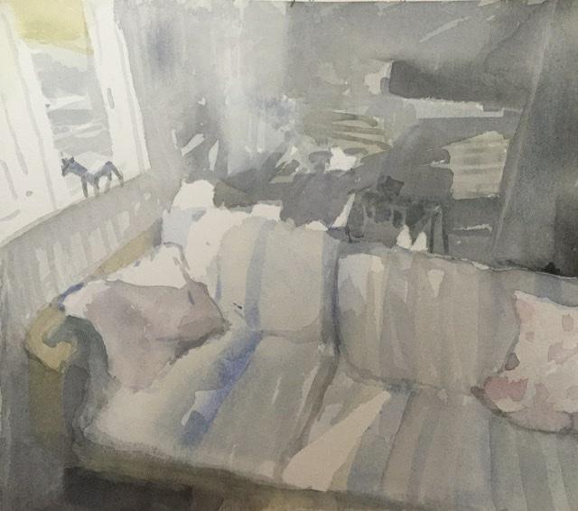 """""""Aamu""""; Bastholmen 2020, 25 x 28 cm"""