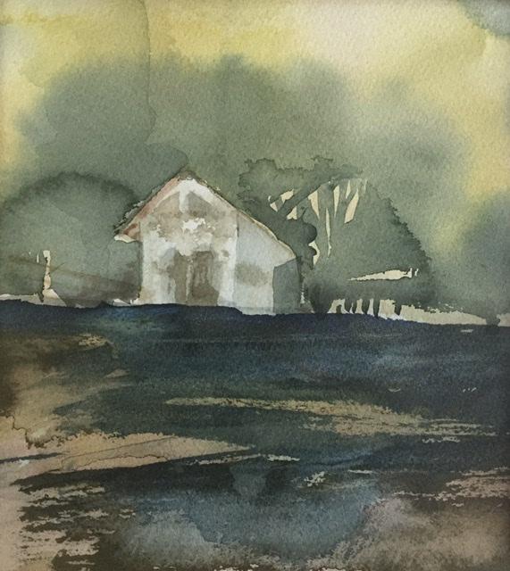 """""""Yläpaviljonki""""; Bastholmen 2020, 28 x 31 cm"""