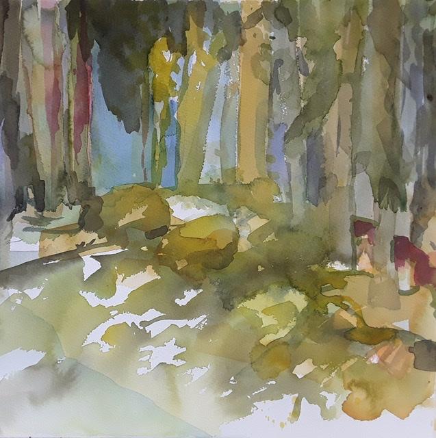 """Metsän henki 9""; Bastholmen 2020, 38 x 38 cm"
