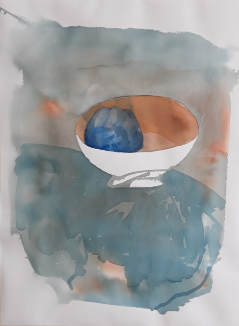 Sininen paprika, 76 x 56 cm