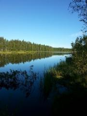 Pilkotunjärvi sunnuntaiaamuna (kuva JR)