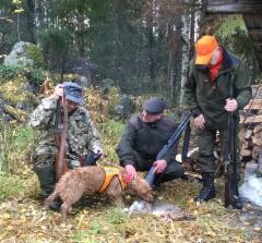 Jälkipelit, Juho, Erkki, Jorma ja Kassu. (kuva PKK)
