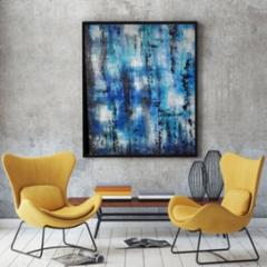 Sininen abstrakti 1, 450 €