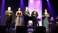 Isänpäivän Tangokonsertin esiintyjät Puolankajärven koululla 13.11.2016