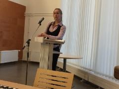Kansanedustaja Hanna Sarkkinen vieraili porinakerhossa 19.1.2017.