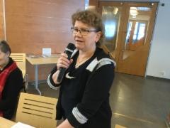 Porinakerhossa 1.3.2018 Tarja Käsmän aiheena oli kaatuminen