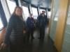 Salli, Ulla ja Reijo Näsineulan näköalatasanteella 120 metrin korkeudessa 24.3.2018