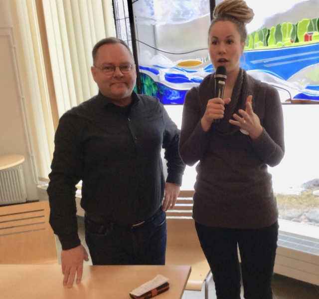 Hanna Sarkkinen ja Risto Kaliorinne 11.4.2019