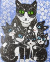 kissat_lumisateessa
