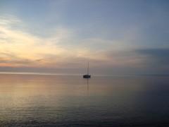 saaren pohjoisrannalla