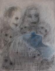 Kevorkianin uni 90 x 70 pigmentti ja kuivapastelli kankaalle 2014