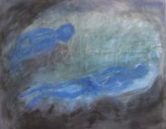 Plura 70 x 80 pigmentti ja kuivapastelli kankaalle 2014