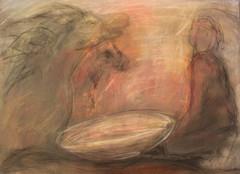 Loputon jano 50 x 70 pigmentti ja kuivapastelli kankaalle 2014