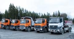 SK-Kaivin Oy luottaa Mercedes-Benziin malmikiven kuljetuksessa kaivoksesta maan pinnalle.
