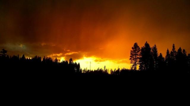 Auringonlasku Utriaisvaaralla.