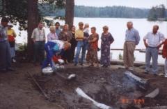 1997 Rosvopaistin valmistusta kesäjuhlassa Kuopiossa