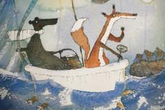 Samassa veneessä (kuva seinalla)